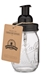 Mason Jar Foaming Soap Dispenser - Black - With 16 Ounce Ball Mason Jar - mj-foaming-black-pint-1pk