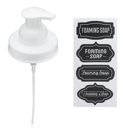 Mason Jar Foaming Soap Dispenser Lids - White - 1 Pack
