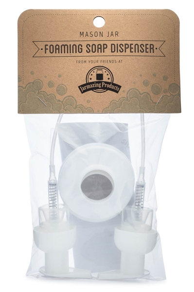 Mason Jar Foaming Soap Dispenser Lids - White - 2 Pack