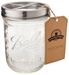 Mason Jar Toothbrush Holder - with 16 Ounce Ball Mason Jar - Stainless Steel - tbrush-pint-wm-ss